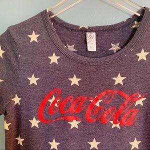 Alternative   Coca-Cola Graphic Tee Stars Pattern